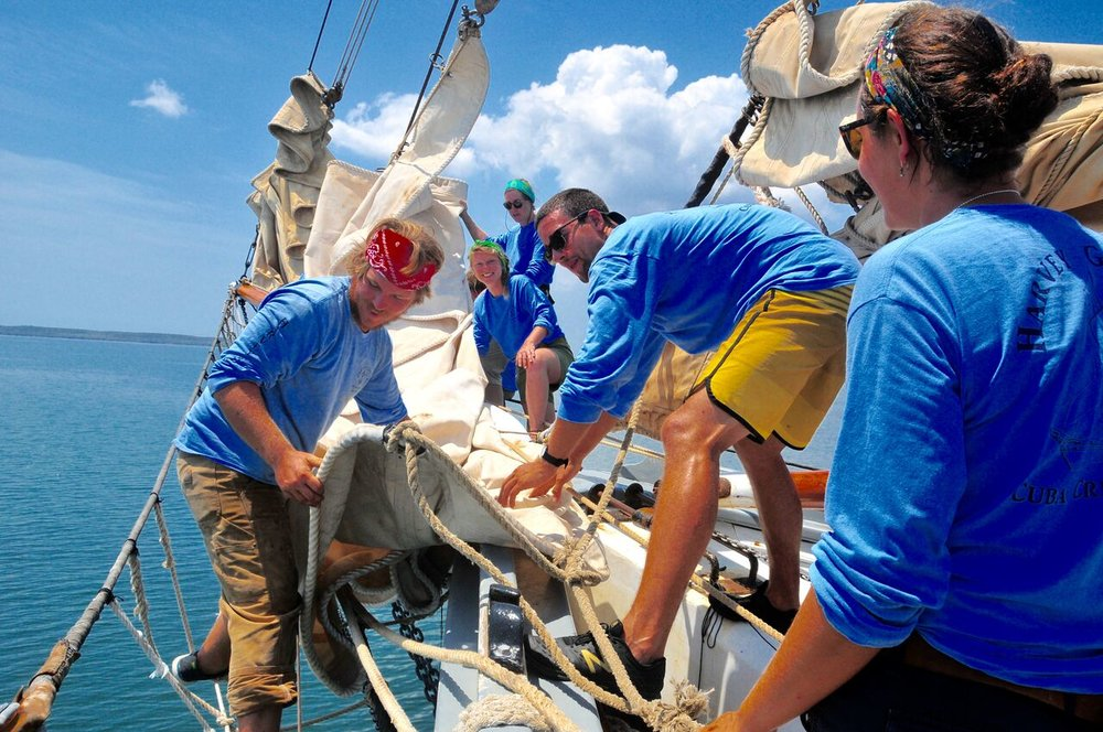Ocean Passages gap year program crew ship
