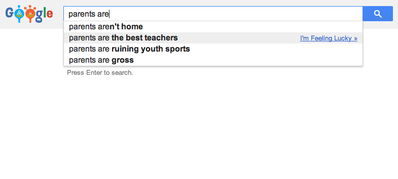 Amusing Google Searches for Parents and Teens