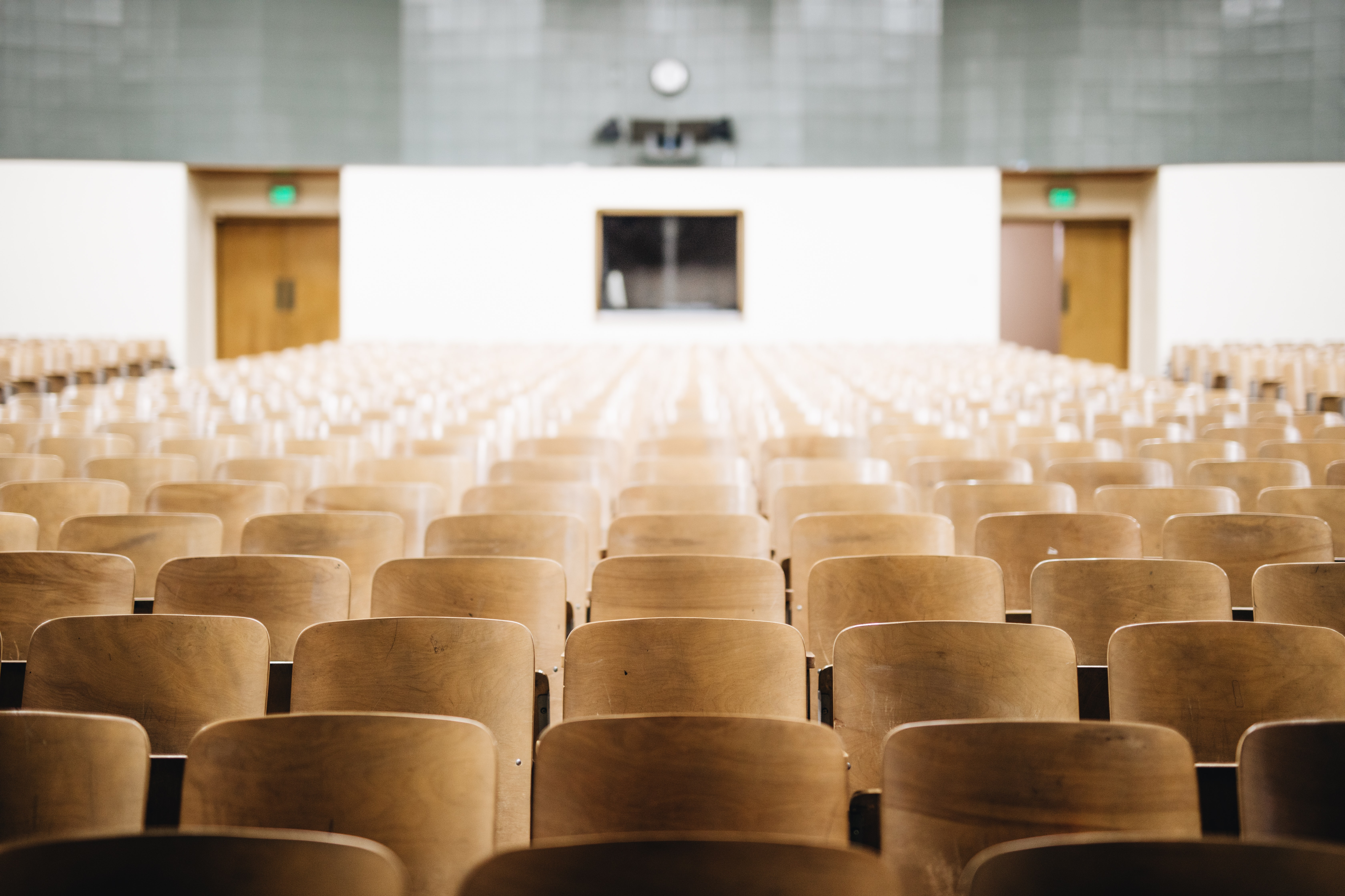 Empty lecture seats