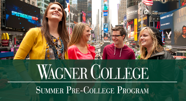 Summer Program Wagner College - Summer Pre-College Program for High School Students  - Pre-Med and Science Program