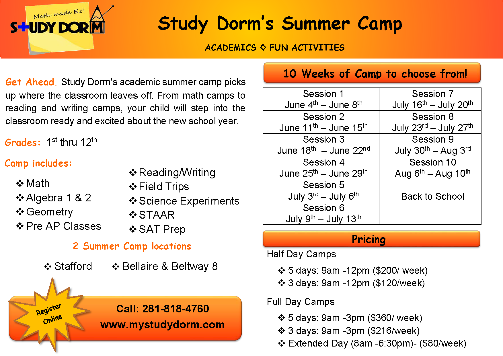 Summer Program Academic Summer Camp For High School Students In