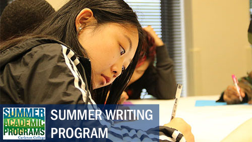 Summer Program - Writing | Carleton College: Summer Writing Program