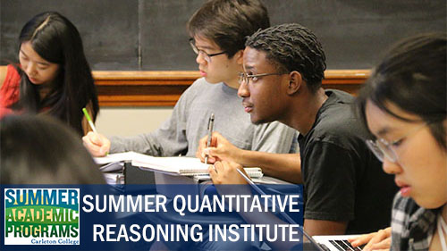 Summer Program - Mathematics | Carleton College: Summer Quantitative Reasoning Institute