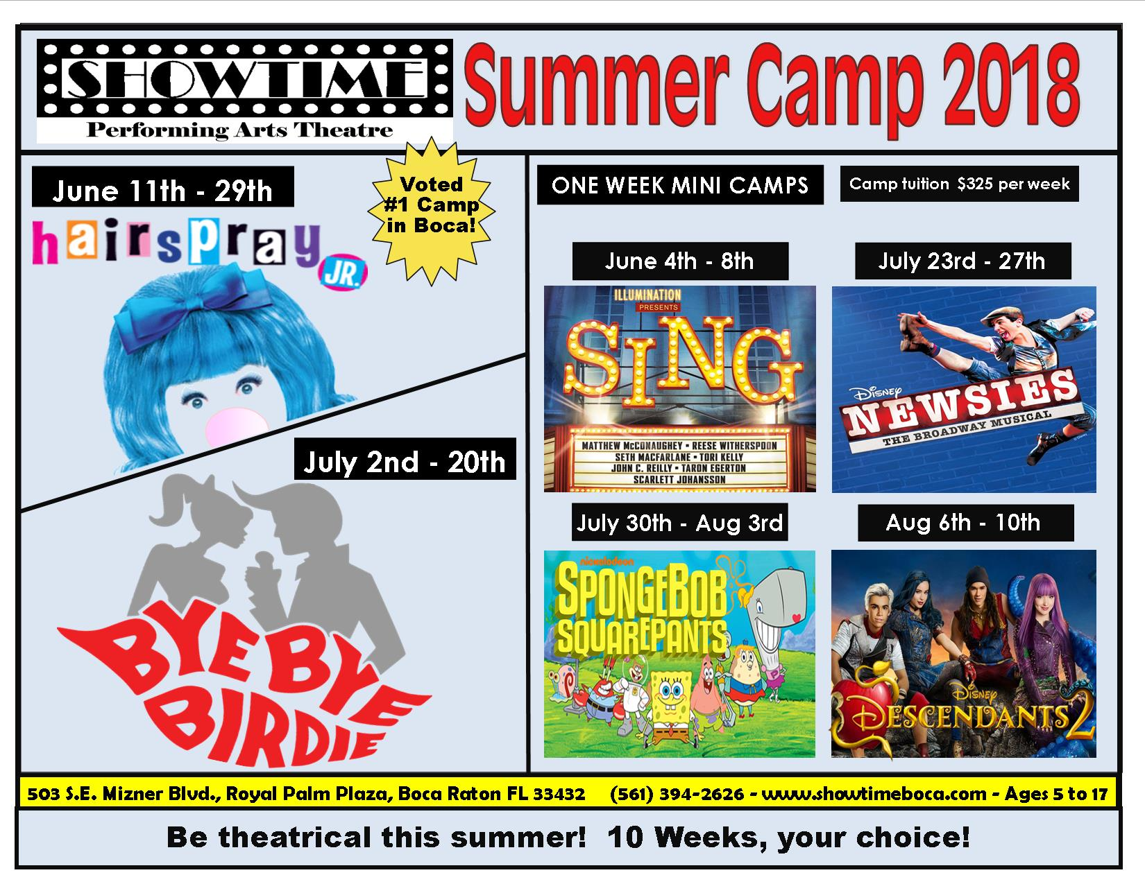 Summer Program - Theatre Arts | Showtime Performing Arts Theatre