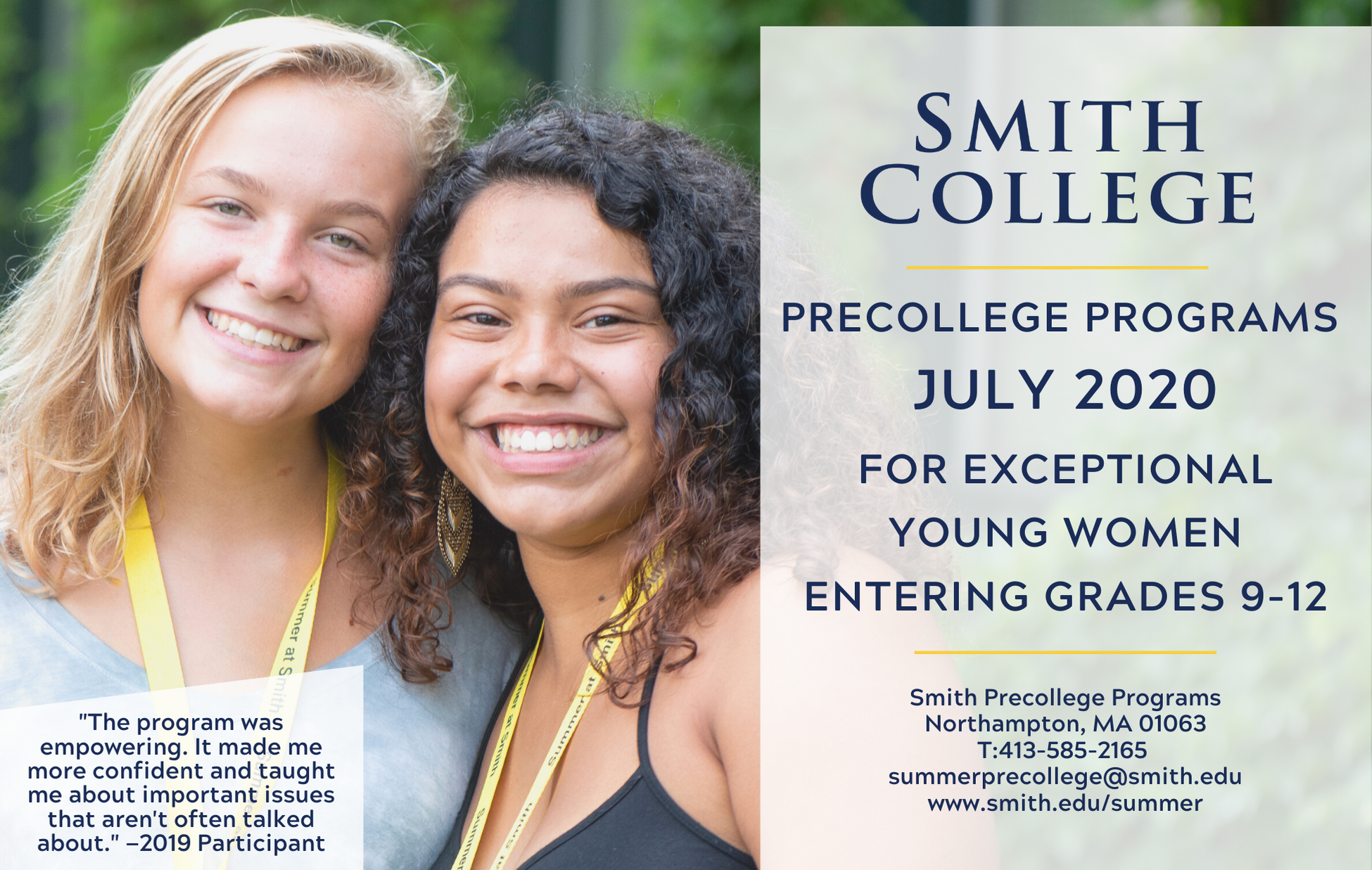 Summer Program - Writing   Smith Precollege Summer Programs