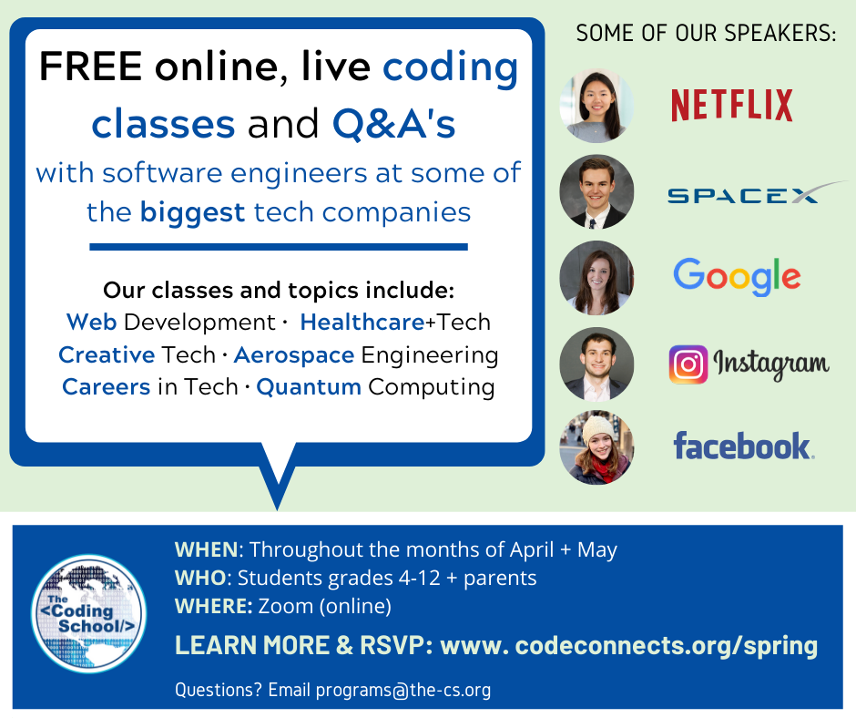 Summer Program - Video Gaming | FREE Online Coding Course & Tech Talk Series with Engineers at Google, SpaceX, Microsoft -with TCS through May 2020