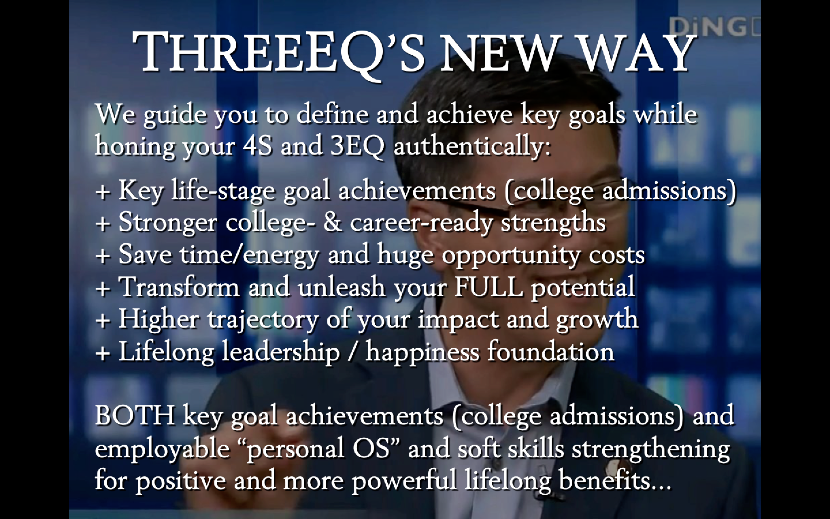 Business - Secondary School Advisors | ThreeEQ - Elite College Admissions, Career, and Life Coach and Mentor