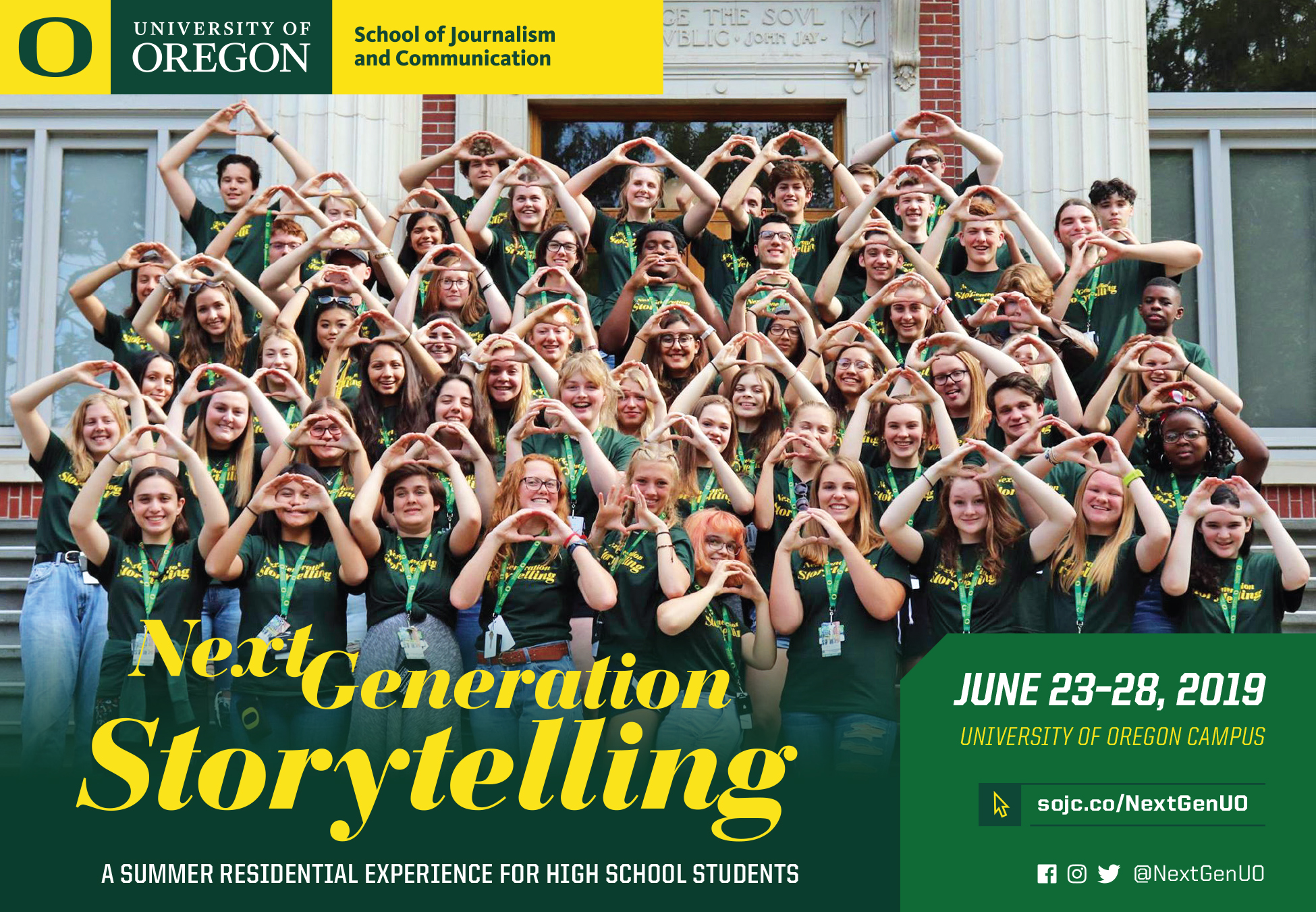 Summer Program - Writing | University of Oregon:  School of Journalism Next Generation Story Telling Summer Program