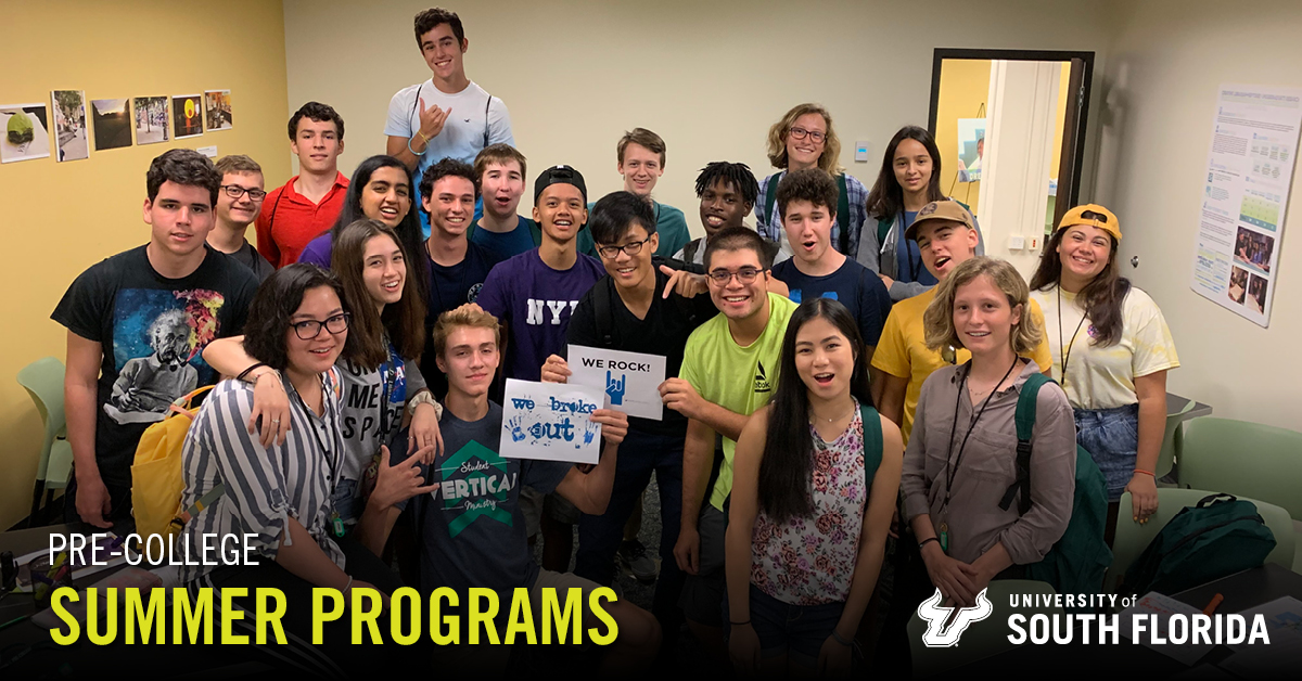 Summer Program - College Courses | University of South Florida Pre-College: Summer Programs for High School Students