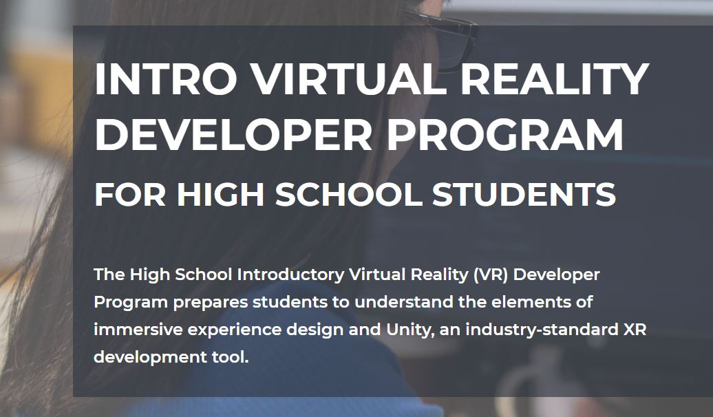 Summer Program - Video Gaming | XRTerra: Intro Virtual Reality Developer Program for High School Students