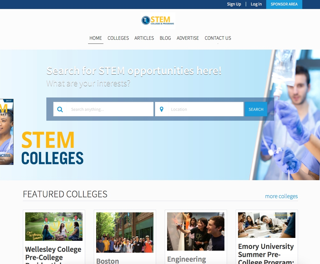 Stem Colleges & Programs Microsite-TeenLife